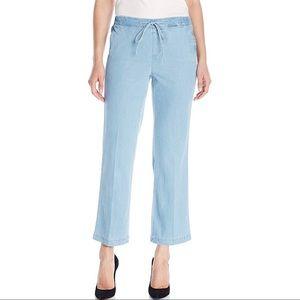 NYDJ Chambray Elastic Waist Drawstring Jeans